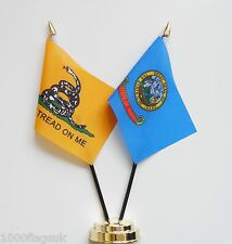 Gadsden & Idaho Double Friendship Table Flag Set
