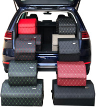 Ledertasche Aufbewahrungsbox Kofferraumorganizer  Schwarz, Rot, Braun, Grau,