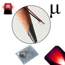 10 x 12v 0807 0805 Red Micro Flashing SMD Pre-Wired LED Light Blinking 9v 18v 6v