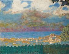Bonnard Pierre Sky Storm On Cannes Print 11 x 14   #3544