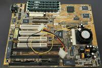 Vintage Motherboard ASUS P/I-P55T2P4 + Pentium MMX 200 MHz Processor & 130MB RAM