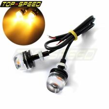 Car Bicycle Off-Road Pair LED 12V Eagle Eye License Plate Light Lamp Universal