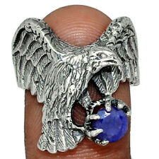 Eagle - Sapphire 925 Sterling Silver Ring Jewelry s.9 AR139348 144U