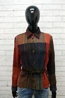 Marlboro Classics Camicia in Lana Donna Taglia M Maglia Manica Lunga Shirt Woman