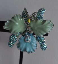 Pin Enhancer In Silver Tone Kirks Folly African Queen Fairy Orchid