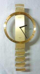 1990s Seiko Kinetic Post Mid Century Modern Pendulum Clock