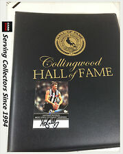 Collingwood AFL Hall Of Fame Card Collection Master Album Set (110)+9 Signatures