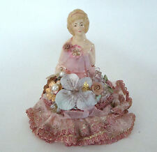 Katherine's Collection Victorian Half Doll Blonde Decorative Ceramic Trinket Box