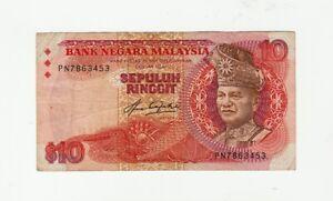 Malaysia 10 Ringgit Banknote 1983 - P21 - FINE/VF Condition as per image