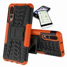 Pour Huawei P20 Pro Hybrid COQUE Protectrice Extérieur 2 Pièces Orange + H9