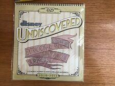 Disney Calendar - D23 - 2010-2011 Undiscovered - 23 Month Nip