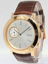 Piaget Altiplano Double Jeu XL 2 Cases 18 Rose Gold 43mm Manual Mens Watch
