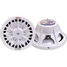 PYLE PLMRW10 10-Inch 500-Watt 4-Ohm Marine Subwoofer (White) 10-Inch/500 Watts