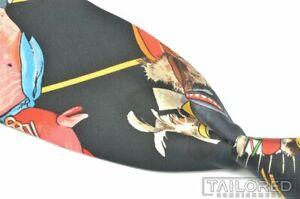 """HERMES SCARF PRINT Black Colorful Aztec Print 100% Silk Mens Luxury Tie - 3.375"""""""