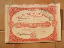 GENERALE DES VOITURES AUTOMOBILES. ( PART.)
