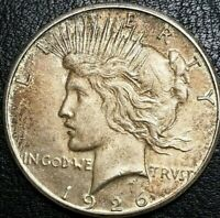 1926 S Peace Silver Dollar Early Liberty .900 Fine Silver Toned $1 MS Round Coin