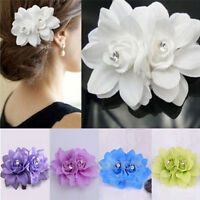 Womens Fashion Flower Hair Clip Hairpin Bridal Wedding Party Hair Accessories OF