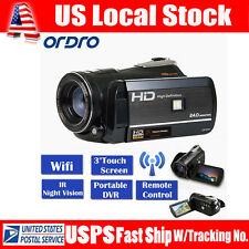 "Handheld ORDRO D395 Wifi 3.0"" Digital Video Camera IR Night Vision Full HD 1080P"