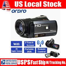 "Handheld ORDRO D395 Wifi 3.0"" Digital Video Camera IR Night Vision Full HD 1080P"