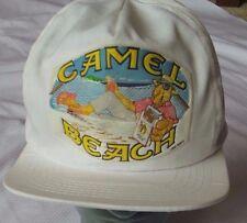Vintage Joe Camels Hat On the Beach 1991 Hat Cap White