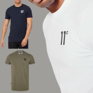 11 DEGREES Mens New King Short Half Sleeve T Shirt Casual Gym Fashion Top Tee
