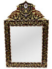 """31"""" Morocco Wood Mirror Frame, Mother of Pearl Inlaid, Wall Hanging Wooden Frame"""
