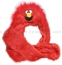 Trooper Skiing Faux Fur Elmo Monster Cosplay Party Animal Costume Hood Glove Hat