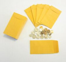 100 NEW KRAFT COIN CHANGE ENVELOPES SIZE 3.125