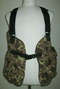 RATTLERS BRAND Cabelas Vintage Camouflage Mens Medium Duck Hunting Shooting Vest