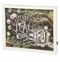 'Let Your Light Shine' LED Chalk Box Sign Primitives by Kathy