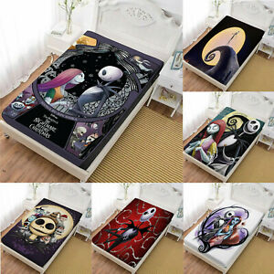 The Nightmare Before Christmas 3PCS Bed Fitted Sheet & Pillowcase Bedding Sets