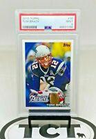 2010 Topps NFL Football Tom Brady PSA 9 New England Patriots