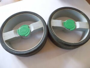 PRE LOVED HILLBILLY COMPACT PLUS GOLF TROLLEY PART~ PAIR OF WHEELS ~ NEED TYRES