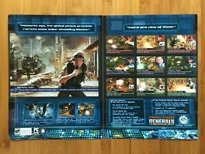 Command & and Conquer Generals: Zero Hour PC 2003 Game Print Ad/Poster Official