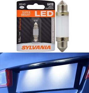Sylvania ZEVO LED Light 6418 White 6000K One Bulb License Plate Tag Replacement