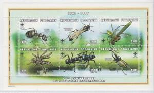 IB129 - INSECTS BUTTERFLIES TOGO TOGOLAISE 1997 INSECTS SS MNH