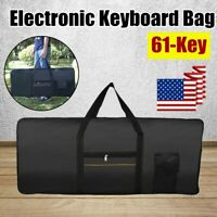 US Portable 61-Key Keyboard Electric Piano Padded Case Gig Bag Oxford Cloth