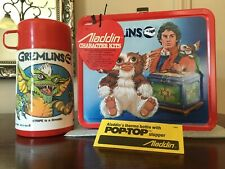 Vintage Unused Mint Condition 1984 Gremlins Metal Lunchbox, Thermos & Tags!!!