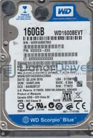 WD1600BEVT-22A23T0, DCM HHMTJHN, Western Digital 160GB SATA 2.5 Hard Drive