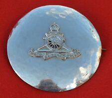 British Army. 19th Rgiment Royal Artillery Genuine Piper's Plaid Brooch