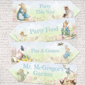 Set of 4 Beatrix Potter Peter Rabbit Large Party Decoration Arrows