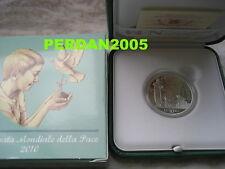 VATICANO 2010 10 EURO ARGENTO PROOF GIORNATA MONDIALE DELLA PACE VATIKAN VATICAN