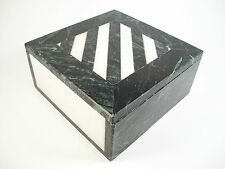Mid Century Modern Verde & White Marble Table Box - Unsigned - Circa 1970's
