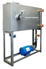 Rectangular Condensate Return Tank 45 Gal & Pump. 36Lx12Wx24H for 30Hp Boiler