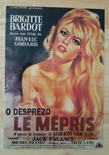 RARE SPANISH POSTCARD BRIGITTE BARDOT LE MEPRIS