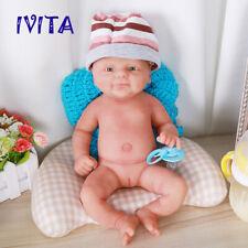 "Lifelike Silicone Reborn Baby Doll Big Eyes Cute Girl Handmade Baby Toys 14"""