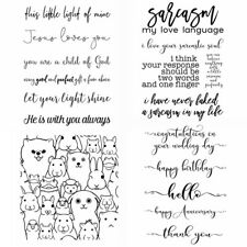 Greetings Animals Clear Rubber Stamps Seal Stamping Embossing Diy Album Crafts