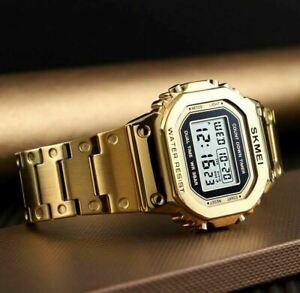 SKMEI Watch Fashion Sport Men's Watches Alarm Waterproof Digital LED Wristwatch