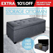 Fabric Bedroom Grey Ottomans, Footstools & Poufs