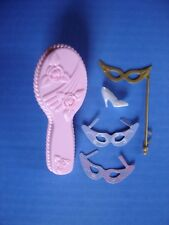 Barbie As Repunzel Growing Hair 2001 Brush Hand Mask Plastic Masquerade Shoe Lot